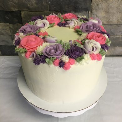 Decorated Buttercream Cake